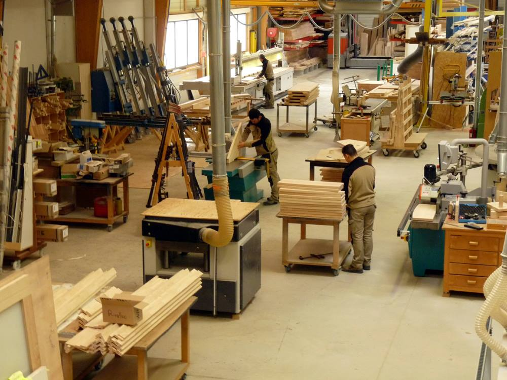 Atelier Fabrication Portes d'intérieur Peuron Menuiserie