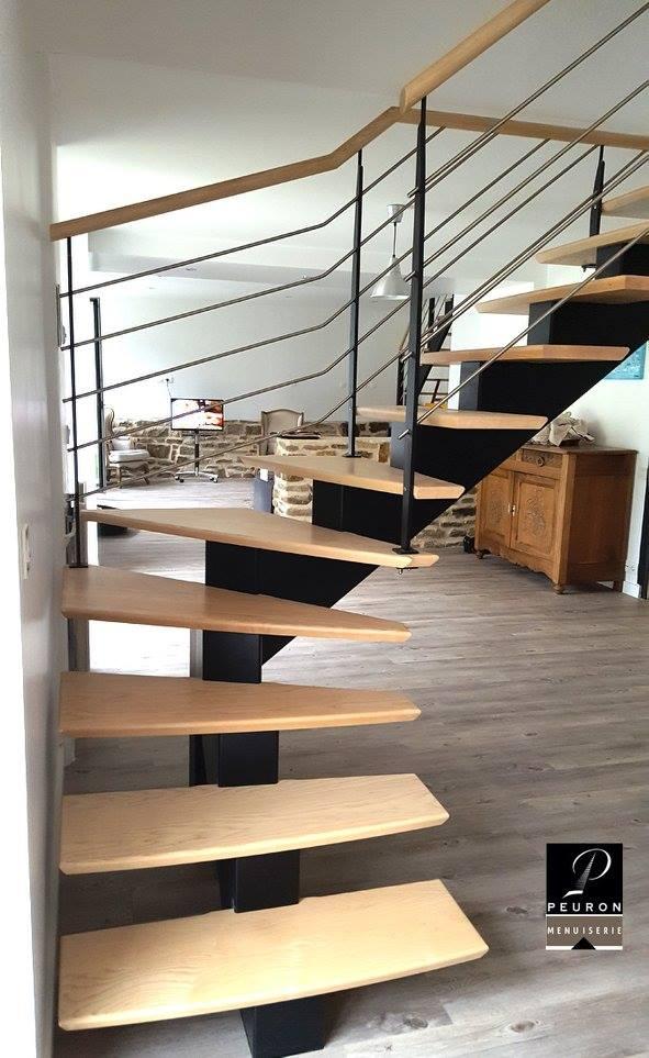 fabricant d'escaliers bois métal sur vannes Pontivy baud Escalier fabriqué par Menuiserie Peuron