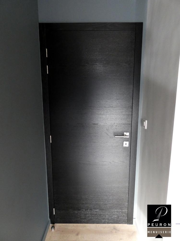 bloc porte,chêne, laqué, noir fabricant portes intérieur bois sur Vannes-Lorient-Pontivy