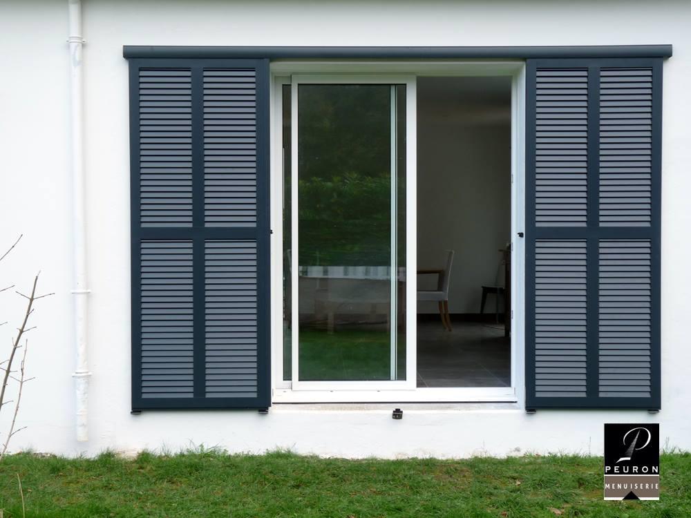 baie coulissante 2 vantaux menuiserie peuron. Black Bedroom Furniture Sets. Home Design Ideas
