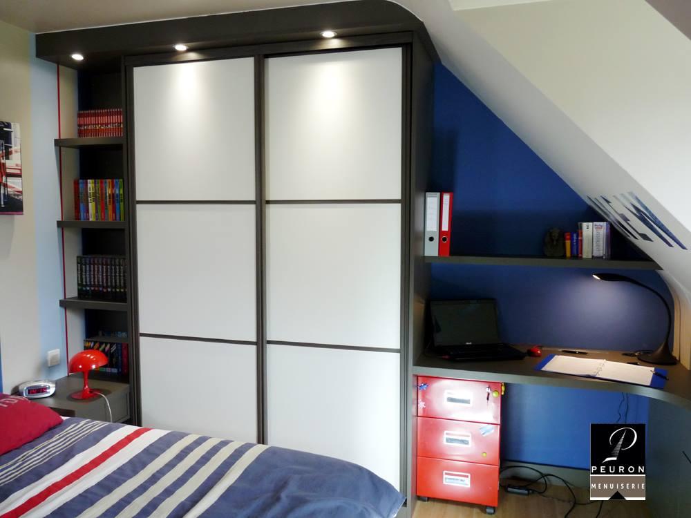 aménagement chambres, dressings et placards Agencement sous rampant chambre à coucher