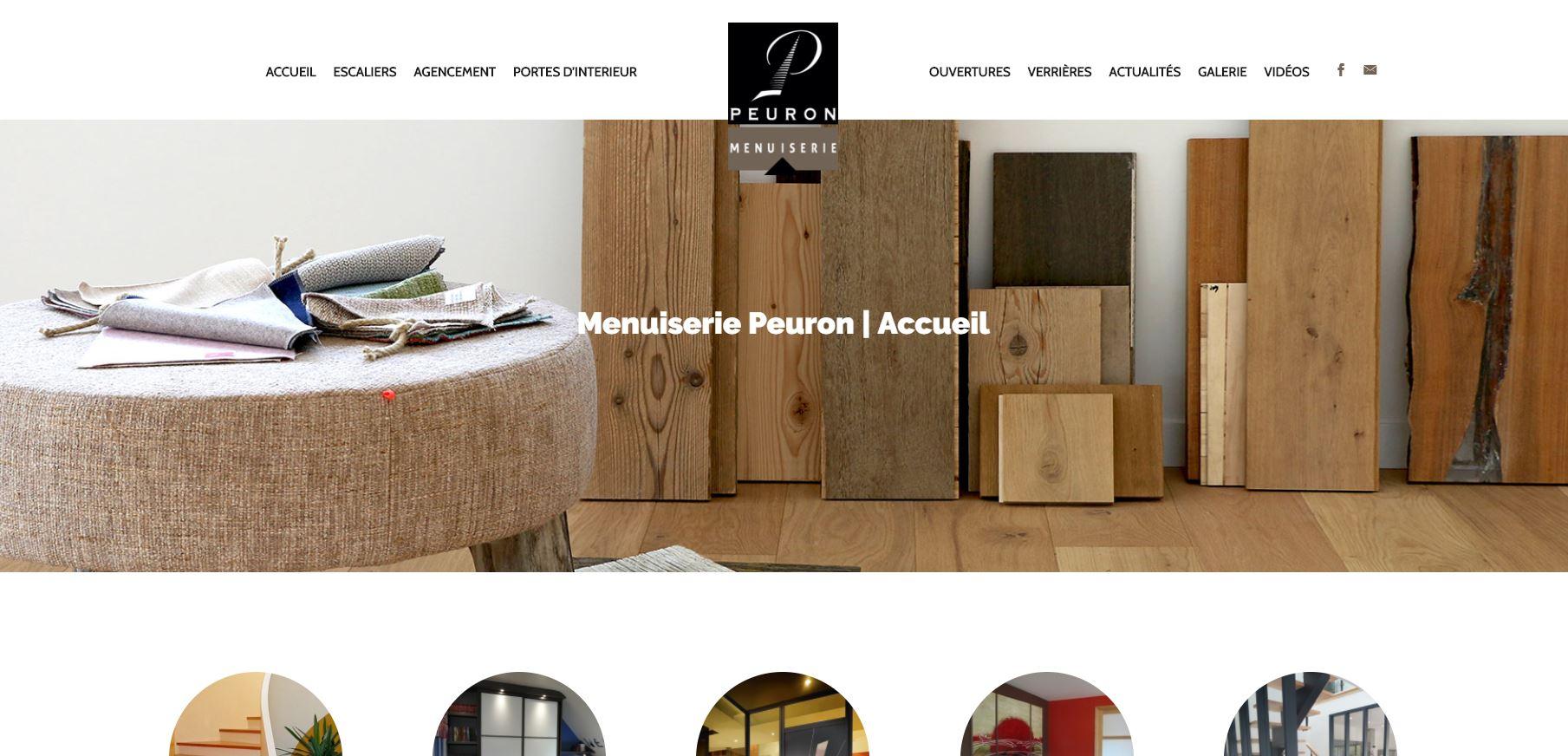 actualit s menuiserie peuron. Black Bedroom Furniture Sets. Home Design Ideas