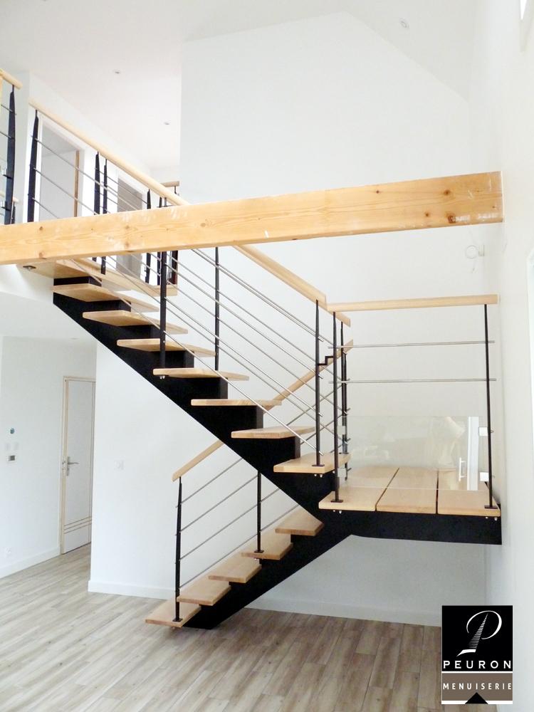 fabricant d'escaliers bois métal sur fabricant d'escaliers bois métal sur vannes Pontivy baud vannes Pontivy baud escalier, limon, central, bois, laqué